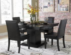 Rotunda Dining Table Set Black Black Finish Modern Dining Table W Optional Side Chairs