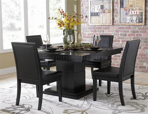 Black Dining Tables Black Dining Table Set