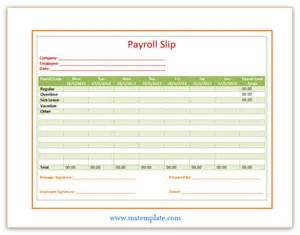 Payroll Payslip Template by Payroll Slip Template Templates Platform