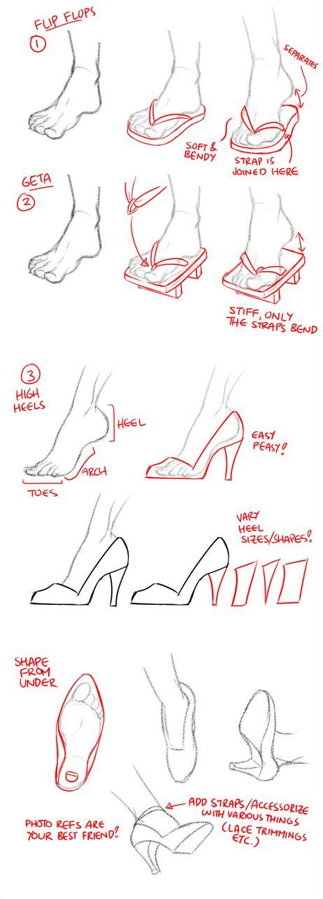 how to draw shoes how to draw shoes flip flops geta and high heels by jy