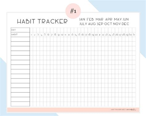 10 Useful Free Habit Tracker Printable Templates Utemplates Daily Habit Tracker Template