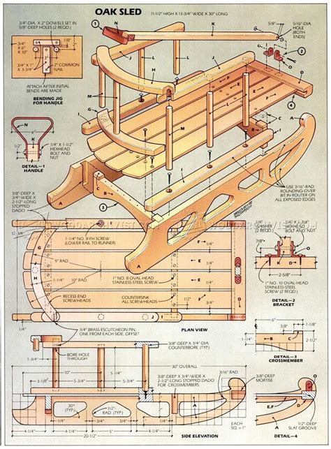 sle blueprints snow sled plans woodarchivist
