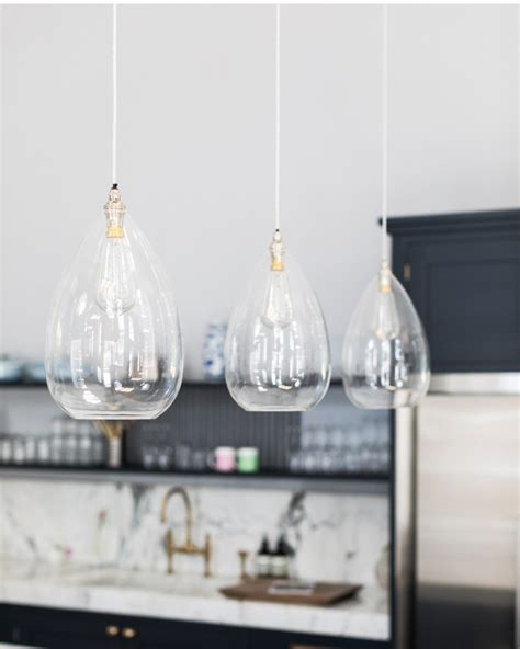 Designer Lighting Pendants Teardrop Clear Glass Ceiling Pendant Light Wellington Contemporary Lighting