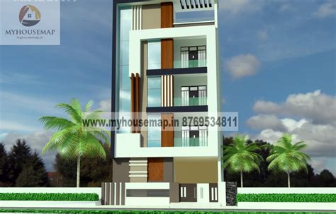 Building House Plans Online by Modern Elevation Design Of Residential Buildings Front