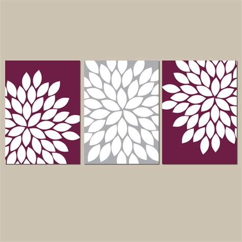 gray wall decor maroon gray wall art bedroom kitchen wall art canvas or