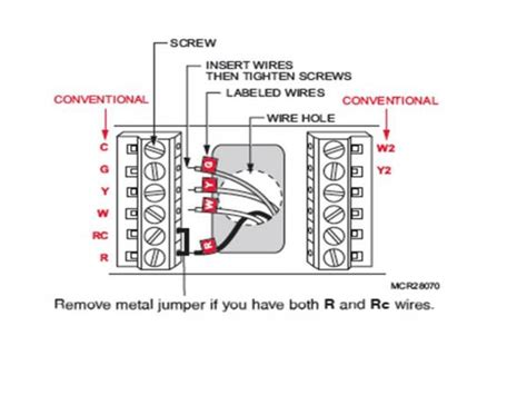 honeywell 4 5 wire thermostat wiring