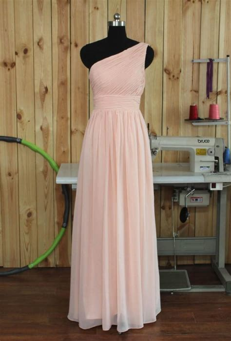 diy hairstyles for one shoulder dresses 2015 custom made long chiffon bridesmaid dress one
