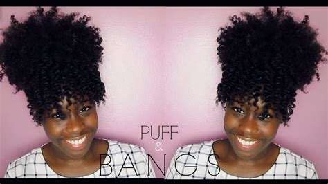 natural hair puff bangs youtube