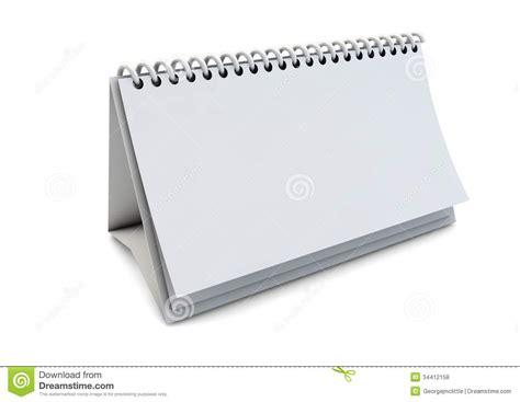 Calendar Render Blank Paper Calendar Royalty Free Stock Photos Image