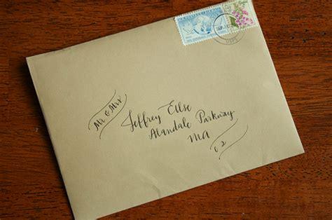 kraft paper envelope with vintage sts wedding time address envelopes