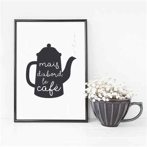 Coffee Print but coffee kitchen print gift by wink