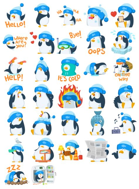 penguin stickers telegram