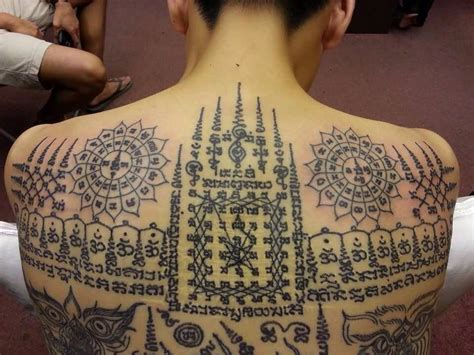 traditional thai tattoo awesome thai religious on back