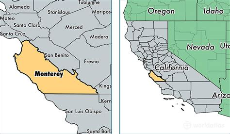 california map monterey county related keywords suggestions for monterey california map