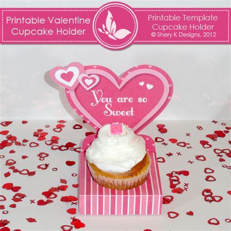 cupcake gift card holder template printable cupcake holder shery k designs