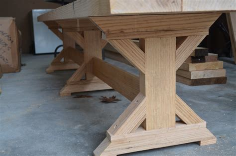 pedestal trestle dining table plans  woodworking