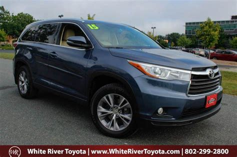 2015 Toyota Highlander Xle Review 2015 Toyota Highlander Xle White River Junction Vt 7814906