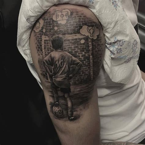 football tattoo football by borislav at holy tattoos