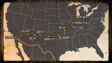 map of usa route 66 recommendations for road trip on route 66 kilroy
