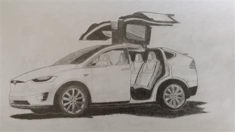 Tesla Model X Sketches by Tesla Model X P100d Drawing By Koploper77 On Deviantart