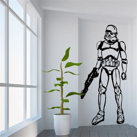 Star Wars Wandaufkleber by Star Wars Stormtrooper Wandaufkleber Wandtattoo