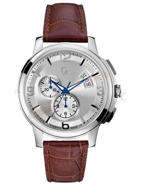 Guess Gc Leather guess collection brown leather chronograph x83005g1s