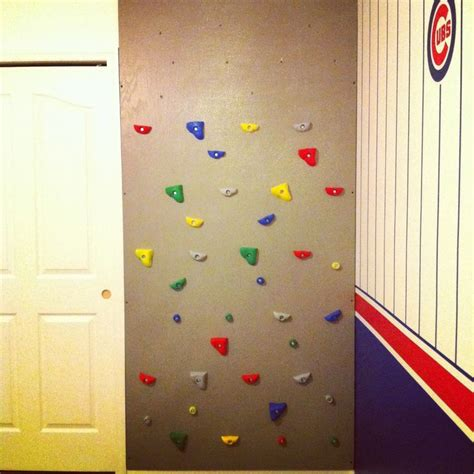 indoor rock climbing wall in bedroom home with