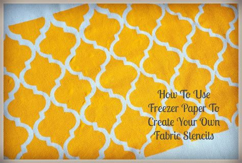 How To Make Paper Stencils - how to use freezer paper to make fabric stencil