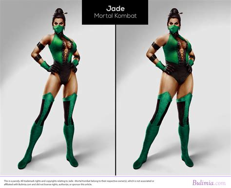 jade layout body video game characters with realistic body types