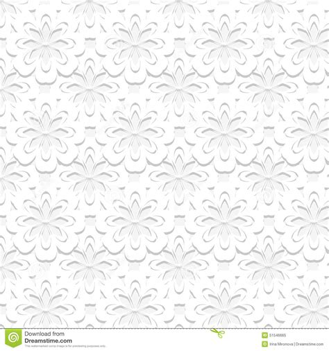 embossed pattern vector seamless embossed floral pattern stock vector image