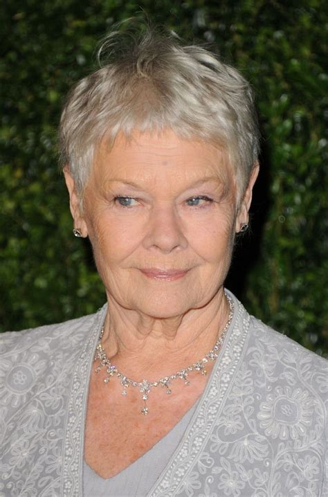 judith dench haircut judy dench pixie hair pixie hair styling pinterest