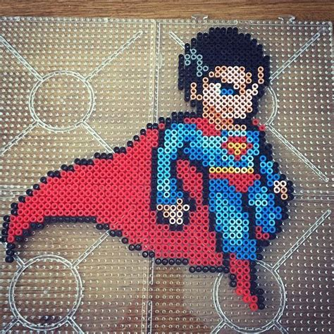 superman perler 204 best images about perling marvel dc on