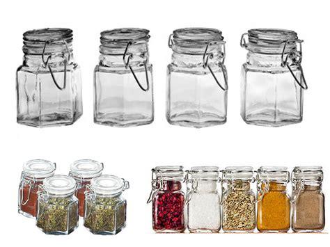 spice rack with empty jars 4 8 12 glass mini spice jars clip top airtight seal dry