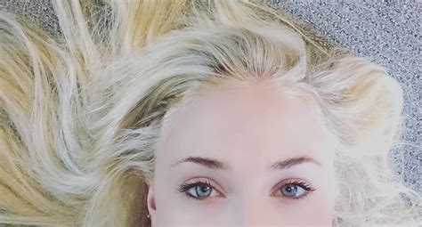 platinum blonde pubic hair sophie turner is latest celebrity to succumb to allure of
