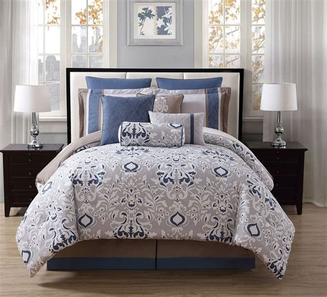 10 piece chloe teal gray ivory reversible comforter set ebay
