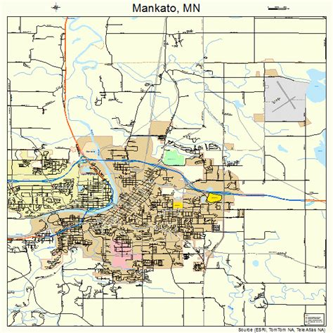 mankato minnesota map 2739878