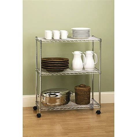 Does Walmart Carry On A Shelf by Seville 3 Tier Rolling Kitchen Cart Studio Solutions