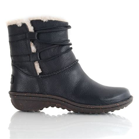 ugg black leather caspia s ankle boot