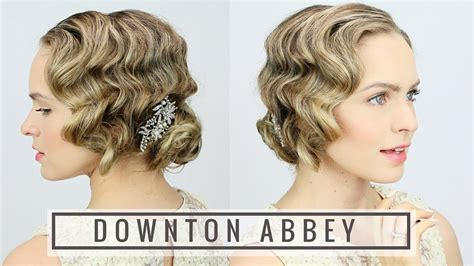 how to do easy 1920s hairstyles for mid hair with fringe 1920 s finger wave updo youtube