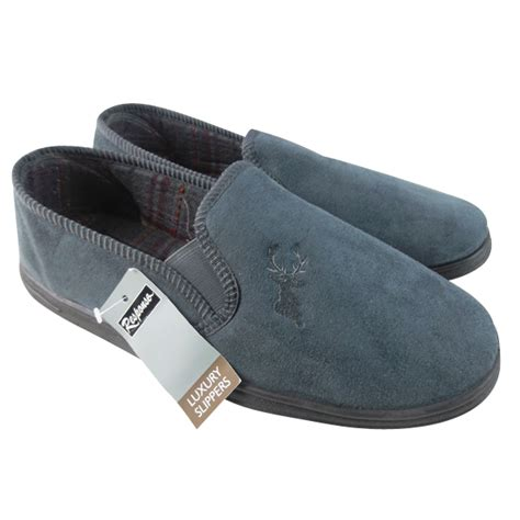 gents slippers uk mens classic stag slipper luxury quality gents slippers