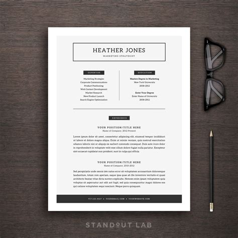 Anschreiben Adrebe Ey Resume Template And Cover Letter Template Professional Design