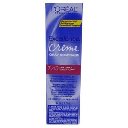 l oreal excellence permanent hair colour 7 3 golden ebay l oreal excellence creme permanent hair color copper gold 7 43 1 74 oz pack of 3