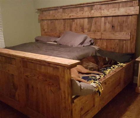 diy dog bed frame best 25 king bed frame ideas on pinterest king size bed frame rustic bed and diy