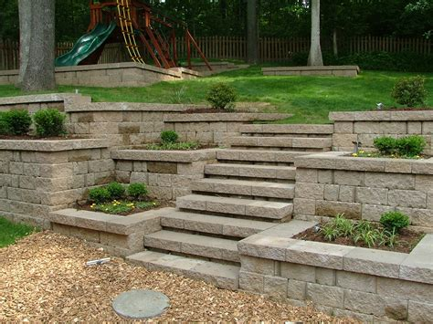 Garden Wall by Retaining Wall Steps Album 2
