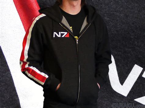 Hoodie Zipper Rpg Mass Effect N7 4 favorite gaming related clothing topic bomb