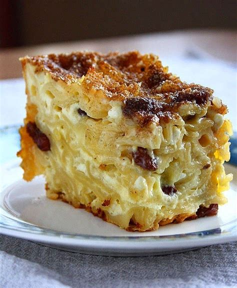 cottage cheese cake recipes noodle kugel a sweet noodle casserole made with cottage