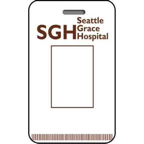 Doctor Id Card Template Free by Seattle Grace Hospital Id Card Custom From The Identity