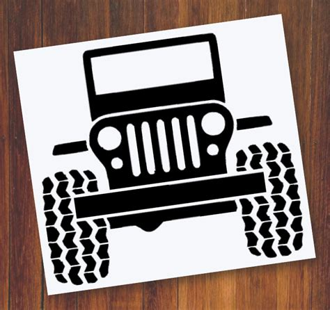 Jeep Stickers Jeep Decal Jeep Wrangler Decal