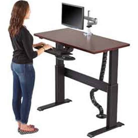 hydraulic standing desk adjustable standing desks globalindustrial