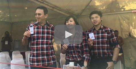 ahok family video ahok and family cast votes at pluit the jakarta post